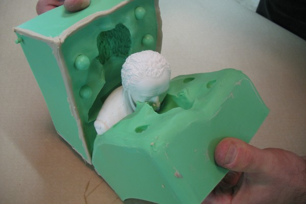 Demolding-Two-Part-Silicone-Block-Mold